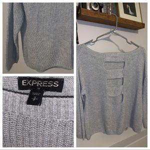 Express - Small - Open Back Long Sleeve Shirt